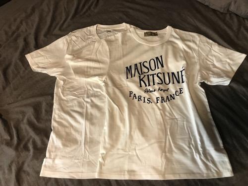 メゾンキツネ Tシャツ サイズ感 比較
