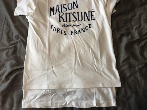 メゾンキツネ Tシャツ サイズ