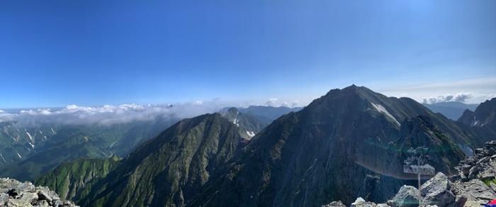 ジャンダルム 山頂の景色
