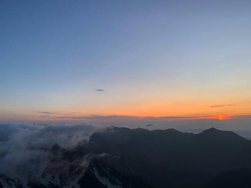 奥穂高 山頂 景色