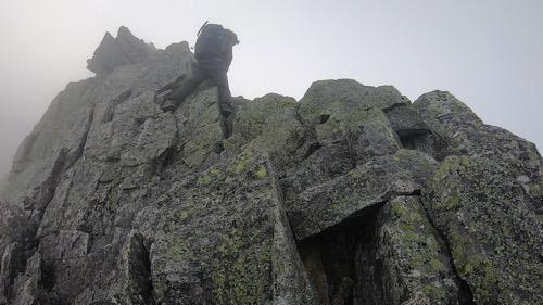 奥穂高山頂から馬の背